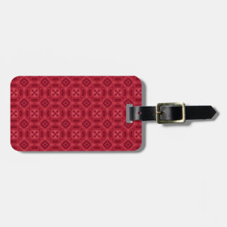 Red wood abstract pattern travel bag tag
