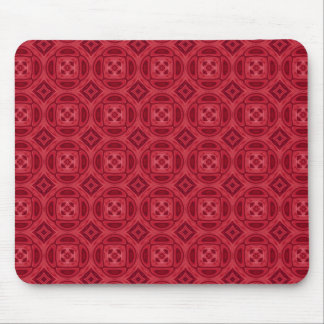 Red wood abstract pattern mouse pad