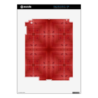 Red wood abstract pattern skins for iPad 2