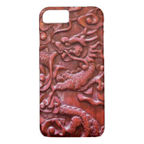 Red Wood Asian Dragon iPhone 8/7 Case