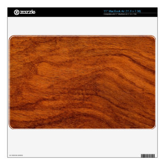 Red Wood Grain Laptop Cover Decal For The MacBook Air