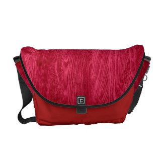 Red Wood Grain Texture Background Messenger Bag