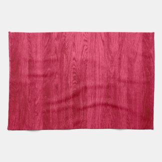 Red Wood Grain Texture Hand Towel