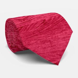 Red Wood Grain Texture Tie