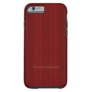 Red Wood Look With Vertical Stripes Texture Tough iPhone 6 Case