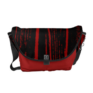 Red Wood Pattern Messenger Bag