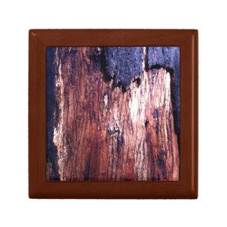 Red Wood Tile Gift Box, Golden Trinket Boxes