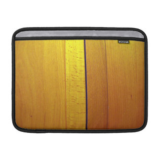 Red wooden interior design texture sleeve for MacBook air