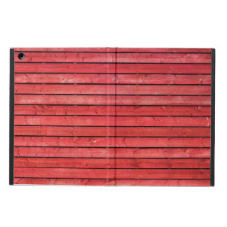 Red wooden planks iPad Air Case with No Kickstand