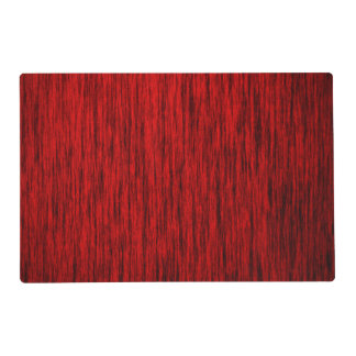 Red Woodgrain Placemat