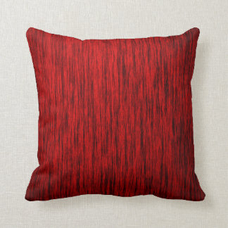 Red Woodgrain Throw Pillow