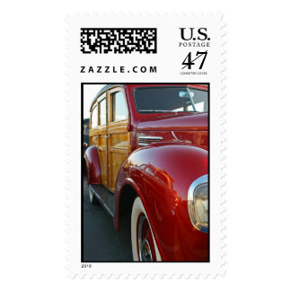 Red Woodie Postage Stamp