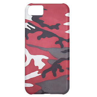 Red Woodland Camouflage iPhone 5C Cover
