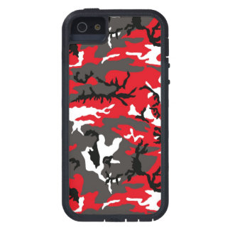 Red Woodland Camouflage iPhone SE/5/5s Case