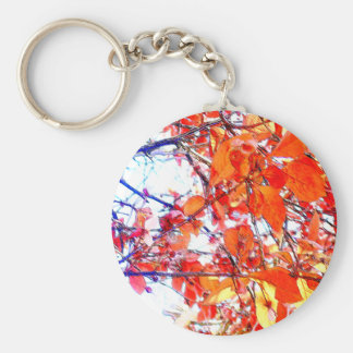 Red Woodland Pastels Basic Round Button Keychain