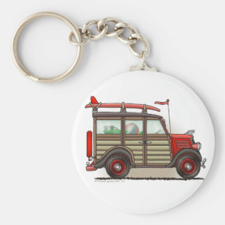 Red Woody Wagon Key Chains