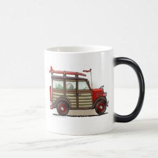 Red Woody Wagon Mugs