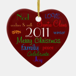 Red Words of Christmas Ornament