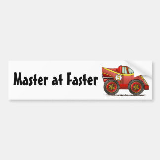 Red World Manufactures Championship Car ... Bumper Car Bumper Sticker