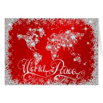 Red WORLD PEACE Diamonds PERSONALIZED Card