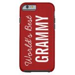 Red World's Best Grammy Custom iPhone 6 Tough iPhone 6 Case