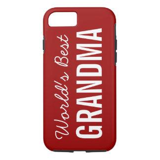 Red World's Best Grandma Custom iPhone 7 iPhone 8/7 Case