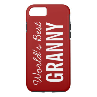 Red World's Best Granny Custom iPhone 7 iPhone 7 Case