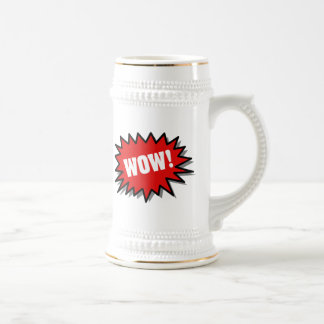Red Wow Beer Stein