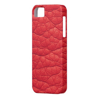 Red Wrinkled Faux Soft Leather iPhone 5s Case