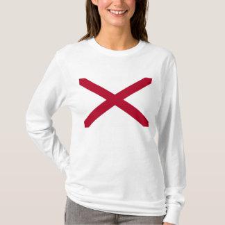 Red X Alabama flag T Shirt