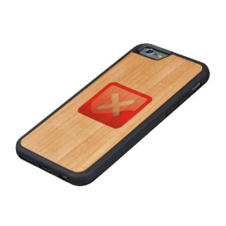 Red X Button Carved® Cherry iPhone 6 Bumper Case