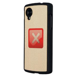 Red X Button Carved® Maple Nexus 5 Case