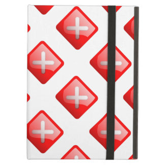 Red X Button Case For iPad Air