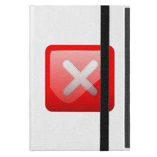 Red X Button Case For iPad Mini