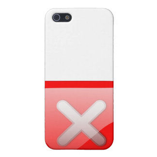 Red X Button Case For iPhone 5