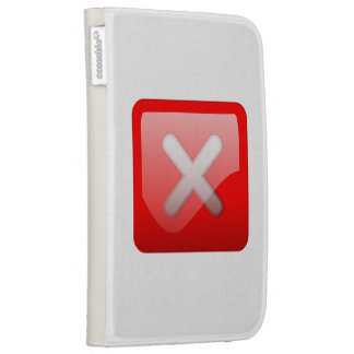 Red X Button Case For The Kindle