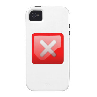 Red X Button Case-Mate iPhone 4 Case