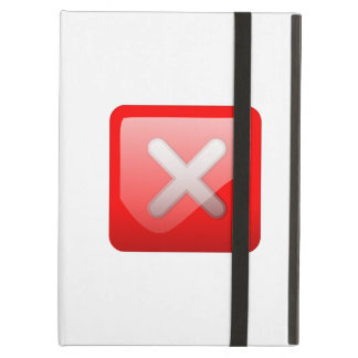 Red X Button Cover For iPad Air