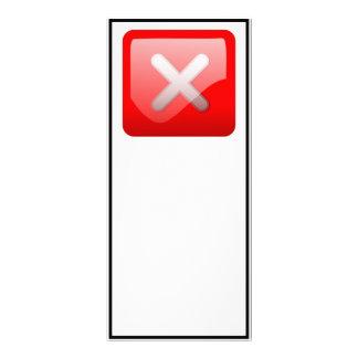 Red X Button Custom Rack Card