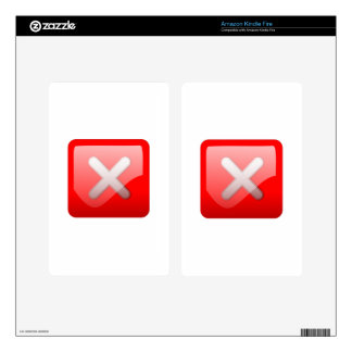 Red X Button Decals For Kindle Fire