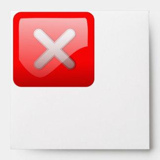 Red X Button Envelopes