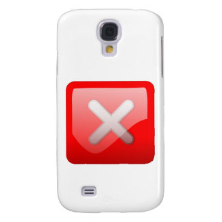Red X Button Galaxy S4 Covers