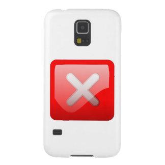 Red X Button Galaxy S5 Case