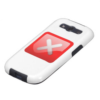 Red X Button Galaxy SIII Cases