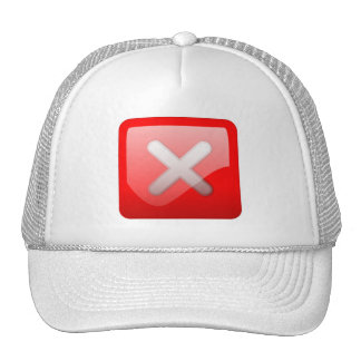 Red X Button Hat