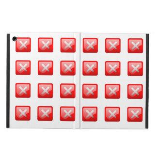Red X Button iPad Air Case