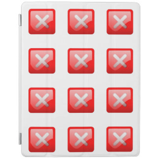 Red X Button iPad Cover