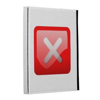 Red X Button iPad Folio Case