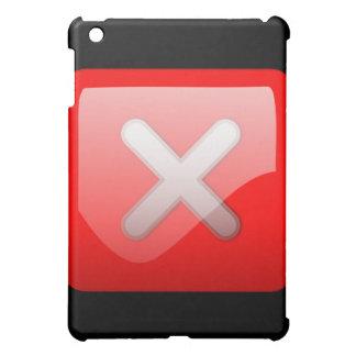 Red X Button iPad Mini Case