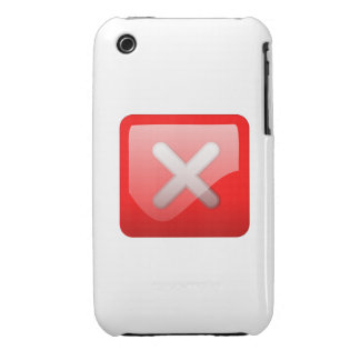 Red X Button iPhone 3 Case-Mate Cases